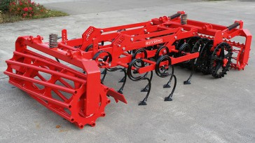 4 rows of strengthened spring S-tines duckfoot shares 105 mm