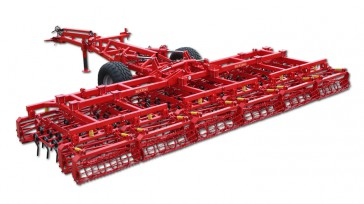 Combined cultivator TURBOCOMBINATOR SL trailing frame with chassis, working sections